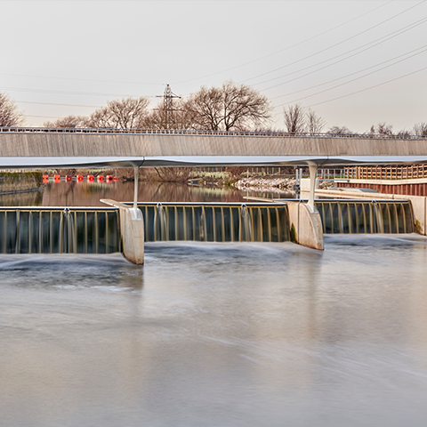 Knostrop Weir Foot & Cycle Bridge, Knight Architects