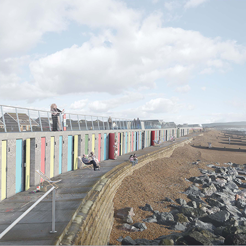 Milford-on-Sea Beach Huts and Public Realm Improvement, Snug Architects