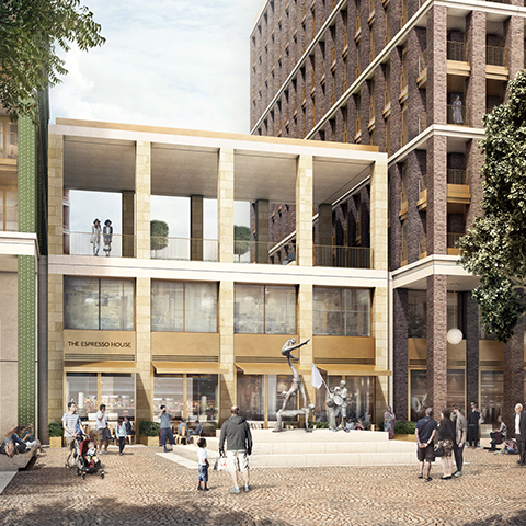Whitechapel Square, Hutchinson &p Partners
