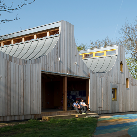 Belvue School, Studio Weave, Woodland Classrooms