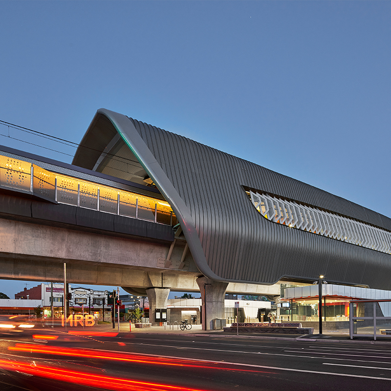 Transport - Completed Buildings: COX Architecture - Caulfield to Dandenong Level Crossing Removal, Melbourne, Australia